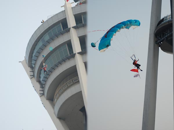 Alor Setar Tower BASE jumper Gary Cunningham